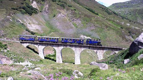 Furka-Bergstrecke Dampfbahn